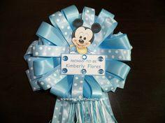 MommyTobe Baby Shower Corsage Mickey by designsbyemilys on Etsy, $19.99
