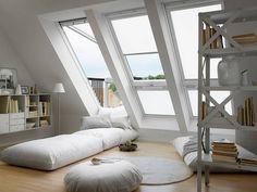 Direkten Zugang nach Draußen erhält man durch den Ausbau des Daches mit einem Cabriobalkon.