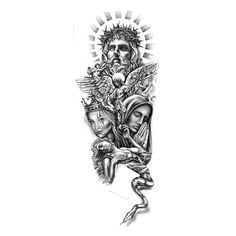 Heavenly Figures Tattoo Design