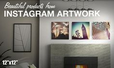 Turn Your Instagram Photos Into Artwork (30% off)!!!  So Doing this