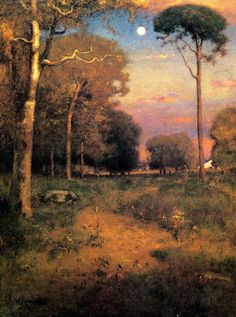 Old Florida Paintings | George Inness Old Homestead Painting