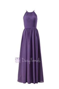 6ddcdb1fbac8 Appealing Pale Purple Chiffon Long Bridesmaid Dress Formal Dress W/Illusion  Neckline(BM5197L)