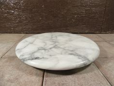 Round marble table or countertop lazy Susan plate turntable server- fine… Round Marble Table, Kitchen Tools And Gadgets, Serving Plates, Kitchen Storage, Turntable, Countertops, Diy Crafts, Room, Rum