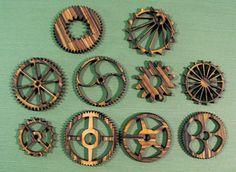 Wood Grain Gears. $7.95, via Etsy.