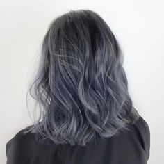 Red and Black Hair: Ombre, Balayage & Highlights - Style My Hairs Blue Ombre Hair, Pastel Hair, Grey Hair With Blue, Dark Grey Hair, Neon Hair, Violet Hair, Bright Hair, White Hair, Cute Hair Colors