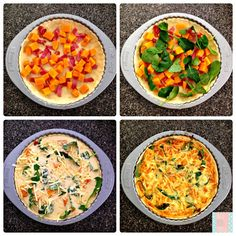 thermomix bacon, pumpkin and spinach quiche