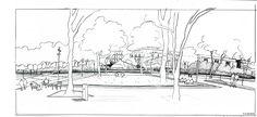 34 Bruel&Delmar-STJP-Sketch-from-the-terrace-toward-the-new-eco-district « Landscape Architecture Works | Landezine