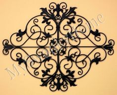 "Ornate Black 44"" OLD WORLD IRON Wall Art Grille - Indoor or Outdoor by Neiman Marcus, http://www.amazon.com/dp/B00DU7366K/ref=cm_sw_r_pi_dp_NMUcsb1S35JH5"