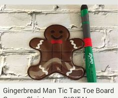 Gingerbread man tic tac toe game