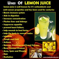 Benefits of Lemon Juice ... this + info on uses for frozen lemons (uses the WHOLE lemon)