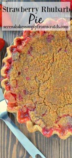 Apple-Blueberry Pie With Strawberry Sauce Recipe — Dishmaps