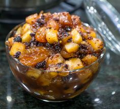 Apple Chutney recipe is delicious with pork or ham, or try it with chicken dishes. A flavorful apple chutney made with raisins, dried cranberries, and spices.