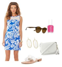 Preppy Saturday by grace-teta on Polyvore featuring polyvore fashion style Lilly Pulitzer Jack Rogers Kate Spade Kendra Scott Ray-Ban Essie clothing