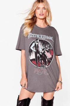 Fleetwood Mac Vintage T-Shirt Dress | Nasty Gal Tee Dress, Shirt Outfit, Band Tshirt Dress, Nice Dresses, Short Dresses, Women's Dresses, Friday Outfit, Clothing Deals, Vintage Shirts