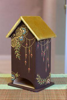 """Купить Чайный домик в стиле """"мехенди"""" - коричневый, чайный домик, чайный домик купить"""