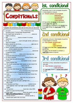 Conditionals - revision Language: English Grade/level: intermediate School subject: English as a Second Language (ESL) Main content: Conditional sentences Other contents: English Grammar Worksheets, English Verbs, Grammar And Vocabulary, English Phrases, Grammar Lessons, English Vocabulary, English Language, Grammar Rules, Second Language