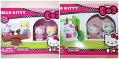 Sanrio Sanrio Hello Kitty Flocked Figures and Swing  See Saw Set parallel import goods >>> Read more  at the image link.Note:It is affiliate link to Amazon.