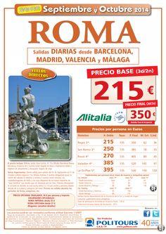 ROMA, salidas del 8al 31 de Octubre desde Mad, Bcn, Vlc y Agp (3d/2n) precio final 350€ ultimo minuto - http://zocotours.com/roma-salidas-del-8al-31-de-octubre-desde-mad-bcn-vlc-y-agp-3d2n-precio-final-350e-ultimo-minuto/