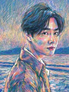 EXO's leader Suho will make his solo debut on March Yesterday they released one teaser photo, and today four more. As the title of his debut is Self-Portrait, the teaser photos actually look like Suho Exo, K Pop, Exo Album, Oil Pastel Art, Oil Pastels, Exo Fan Art, Kim Minseok, Kim Junmyeon, Kpop Fanart