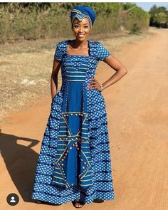 African Traditional Wear, Traditional Dresses, Traditional Wedding, African Print Fashion, African Prints, Shweshwe Dresses, African Dress, Fashion Dresses, Fashion Design