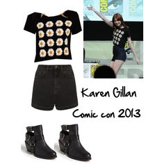Designer Clothes, Shoes & Bags for Women Doctor Who Outfits, Karen Gillan, Hair Beauty, Cosplay, Fashion Outfits, Comics, My Style, Clothing, Comic Con