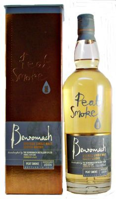 "Benromach Peat Smoke 2005 Single Malt Whisky 43% 70cl  Matured in American oak and bottled at 67 ppm this is the peatiest ""Peat Smoke"" so far from the Benromach Distillery."