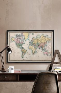 Huge classic world map canvas big boy bedrooms empty wall and huge classic world map canvas big boy bedrooms empty wall and game rooms gumiabroncs Choice Image