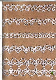 Shuttle Tatting Patterns, Tatting Patterns Free, Crochet Square Patterns, Crochet Stitches, Quilt Patterns, Sewing Patterns, Needle Tatting, Tatting Lace, Crochet Collar