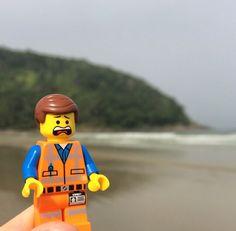 Emmet!!! #legomovie #beach