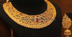 Jewellery Designs: Choker with Spinel Uncuts