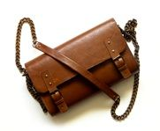 Brown School Bag - handmade leather bag