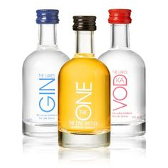 Choose from any of our award-winning spirits in miniature bottles The ONE, The Lakes Gin and The Lakes Vodka.