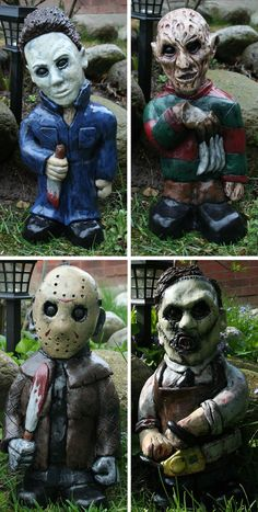 Horror Movie Lawn Gnomes