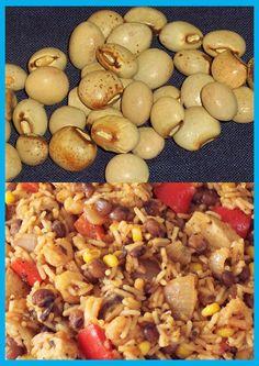Pigeon pea and rice Pigeon Peas, Rice And Peas, Rice Dishes, Black Eyed Peas, Stuffed Mushrooms, Vegetables, Nice, Food, Stuff Mushrooms