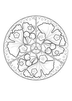 Snowflake mandala to color- available in PNG and JPG format | My ...