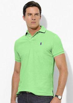 ralph lauren outlet uk Ralph Lauren Men\u0027s Custom-Fit Stretch-Mesh Short  Sleeve Polo