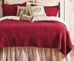 Christmas Bedroom... Merry Little Christmas, Christmas Holidays, Christmas Decorations, Christmas Bedding, Comforter Sets, Linens, Comforters, Seasons, Decorating