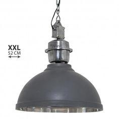 Mooie antraciet kleurige industriele hanglamp met een robuuste stalen ophanging. ✓Gratis verzending ✓ Snelle levering ✓ Keurmerk ✓ Garantie