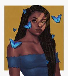 Kiyami Omotayo (@chandeloor) • Instagram photos and videos Black Artists, Disney Characters, Fictional Characters, Digital Art, Photo And Video, The Originals, Disney Princess, Drawings, Illustration