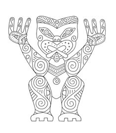 On our art journey around the World we stop off in New Zealand to study some traditional Maori Art. This lesson is broad enough for those in and We explore the forms, shapes, designs and symbolism of traditional 'Ta-Moko&' masks. Art Ideas For Teens, Art Projects For Adults, Art For Kids, Maori Designs, Art Nouveau Disney, Color Art Lessons, Maori Symbols, Maori Patterns, Pop Art Wallpaper