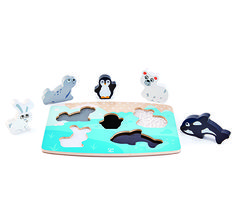 Polar Animal Tactile Puzzle From Hape from The Wooden Toybox