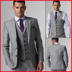 jacke + Hose + Tie + Vest GüNstiger Verkauf Männer Komplette Designer Bräutigam Hochzeit Prom Anzüge/bräutigam Smoking Anzüge Weddings & Events