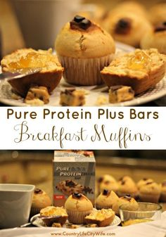 Chocolate Chip Cookie Dough Muffins - perfect breakfast for those on the go! #ad…