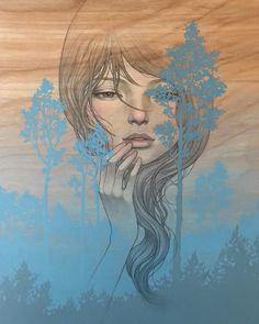 Image may contain: 1 person Audrey Kawasaki Tattoo, Transformers Art, Soul Art, Pop Surrealism, Geek Art, Silhouette, Cartoon Art, Female Art, Cover Art
