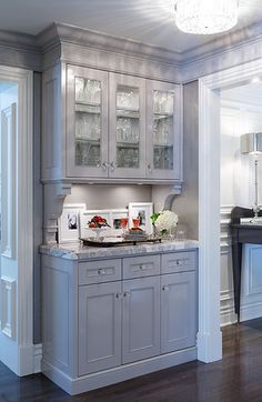 Teerlink Cabinet | Gallery - add corbeils to the hutch,,, skirting & cornice detail
