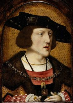 """Painting from the Flemish School, ca. 1515, """"The Emperor Charles V""""(1500-1558), oil on panel."""