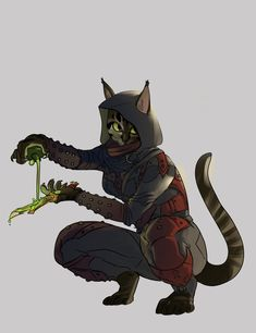 skyrim | Tumblr Khajit Assassin with Poisoned Dagger