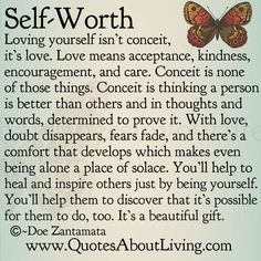 An amazing quote about Self worth and loving yourself ... #quote