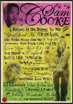 Sam Cooke Poster NICE POSTER---SAM SUNG LIL RED ROOSTER TOO LONG....THE BEST OF THE BEST...