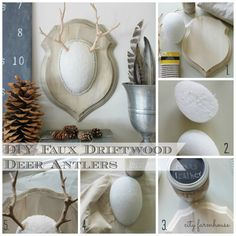 DIY Faux Driftwood Deer Antlers-City Farmhouse